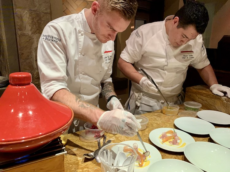 chefs preparing tapas at Omni Scottsdale