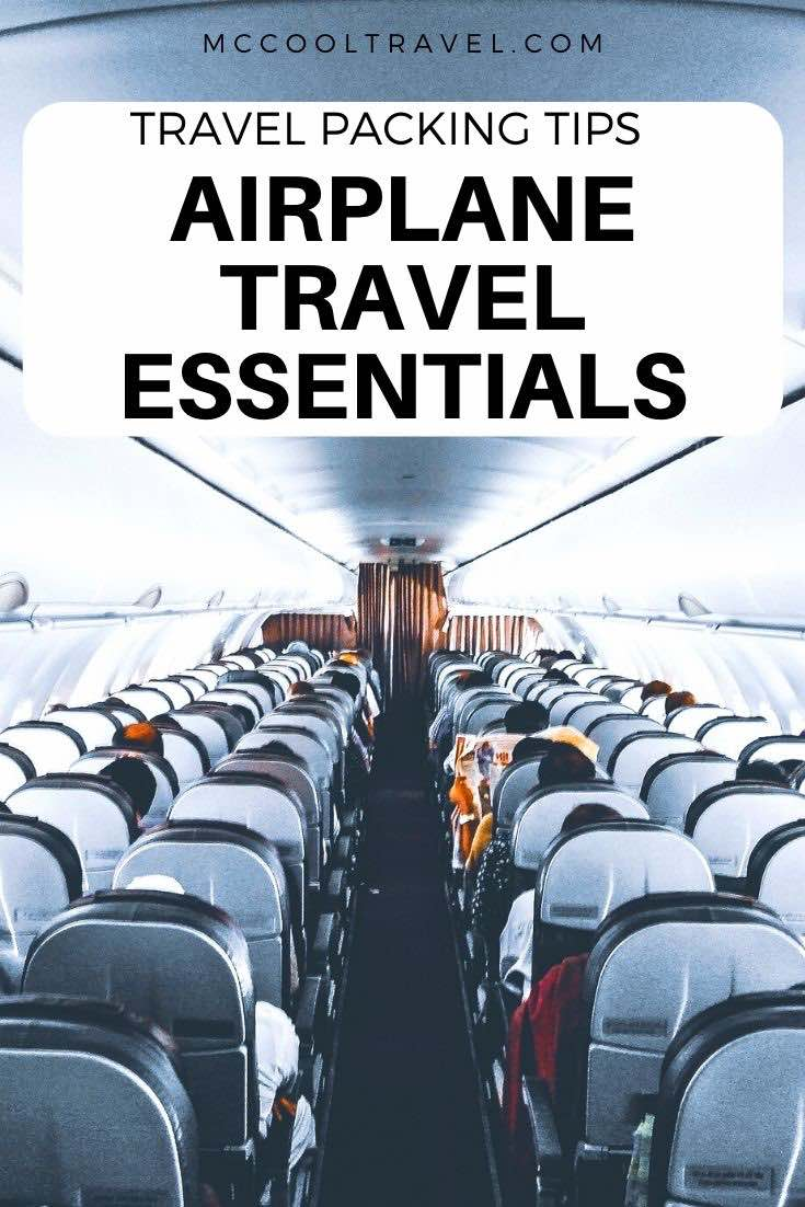 Pack travel essentials for the plane in an organized and easy to handle bag, and you will save time and stress on every flight.