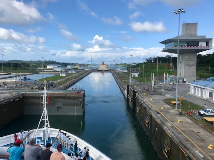 A partial transit through the Panama Canal with Carnival Cruises