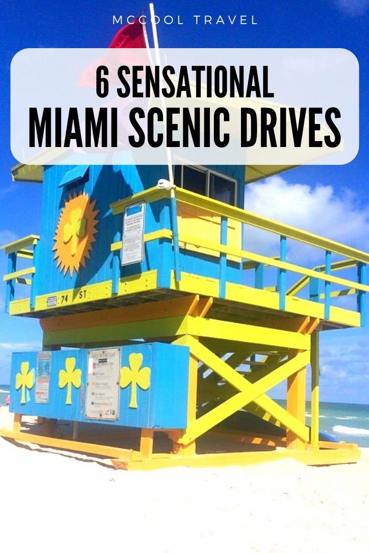 These six sensational Miami scenic drives entice visitors and residents with South Florida's best nature, waterfront views, beaches, and culture. #Miami #Florida #scenicdrives #roadtrips #thingstodo #travel