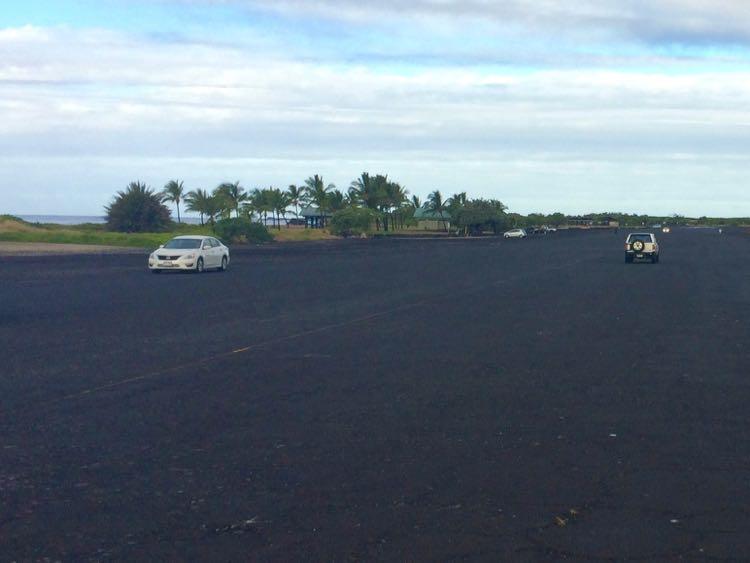 black lava road in Kona Hawaii