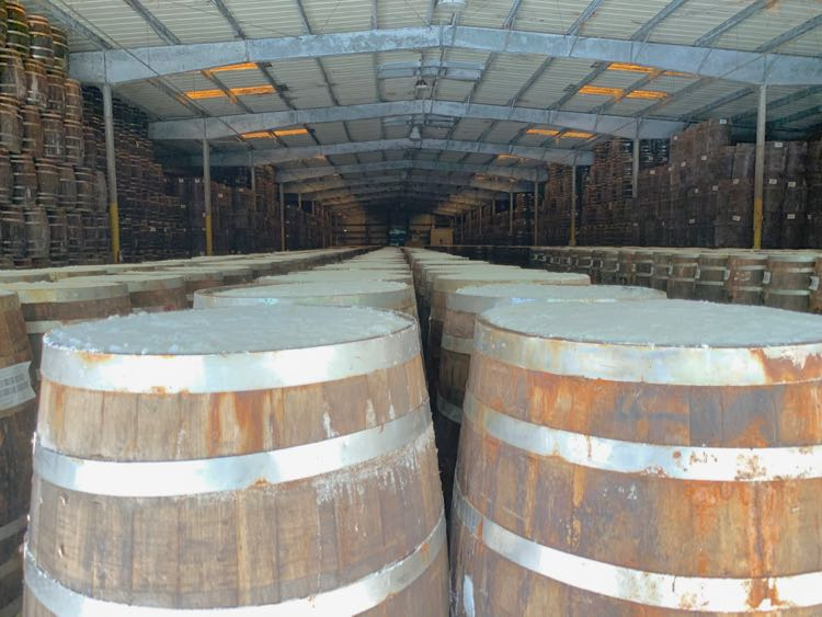 trillions of barrels of TABASCO fermenting in warehouse