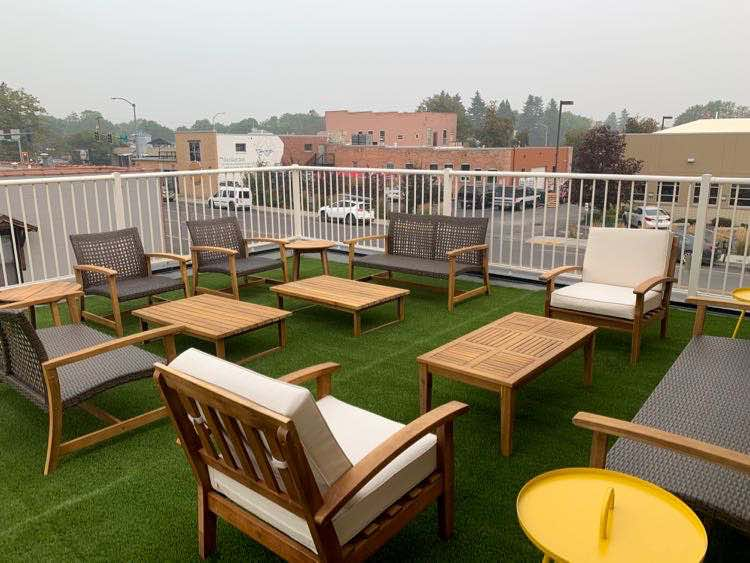 rooftop lounge The Sherman Lodge in Kalispell