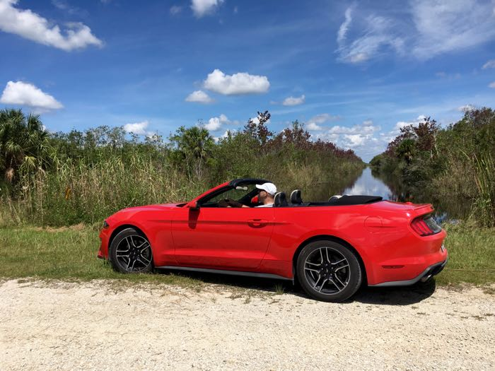 Charles McCool in Everglades with Ford Mustang