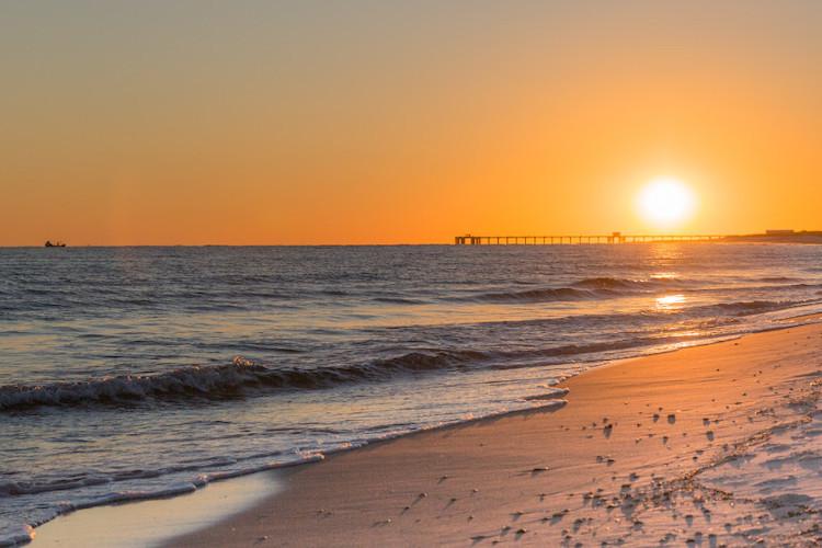Gulf Coast sunset in Gulf Shores Alabama