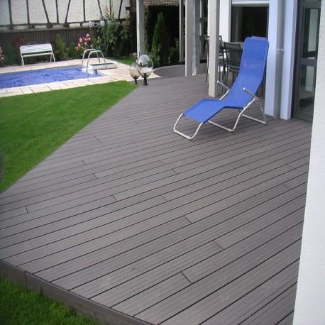 lame terrasse bois composite alveolaire 360x14 cm ep 2 5 cm qualita l pas cher
