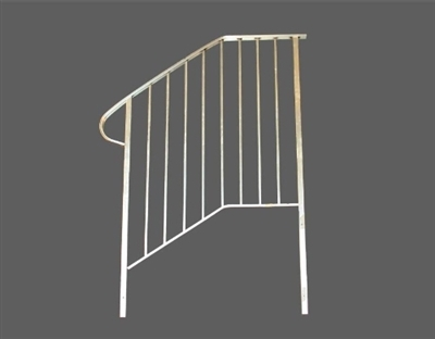 Shop Aluminum Handrail For 4 Step Or 3 Steps With Stoop At Mccoy S | 3 Step Stair Railing | Manufactured Home | Basic Deck | Residential Stair | 2 Bar | Three Step