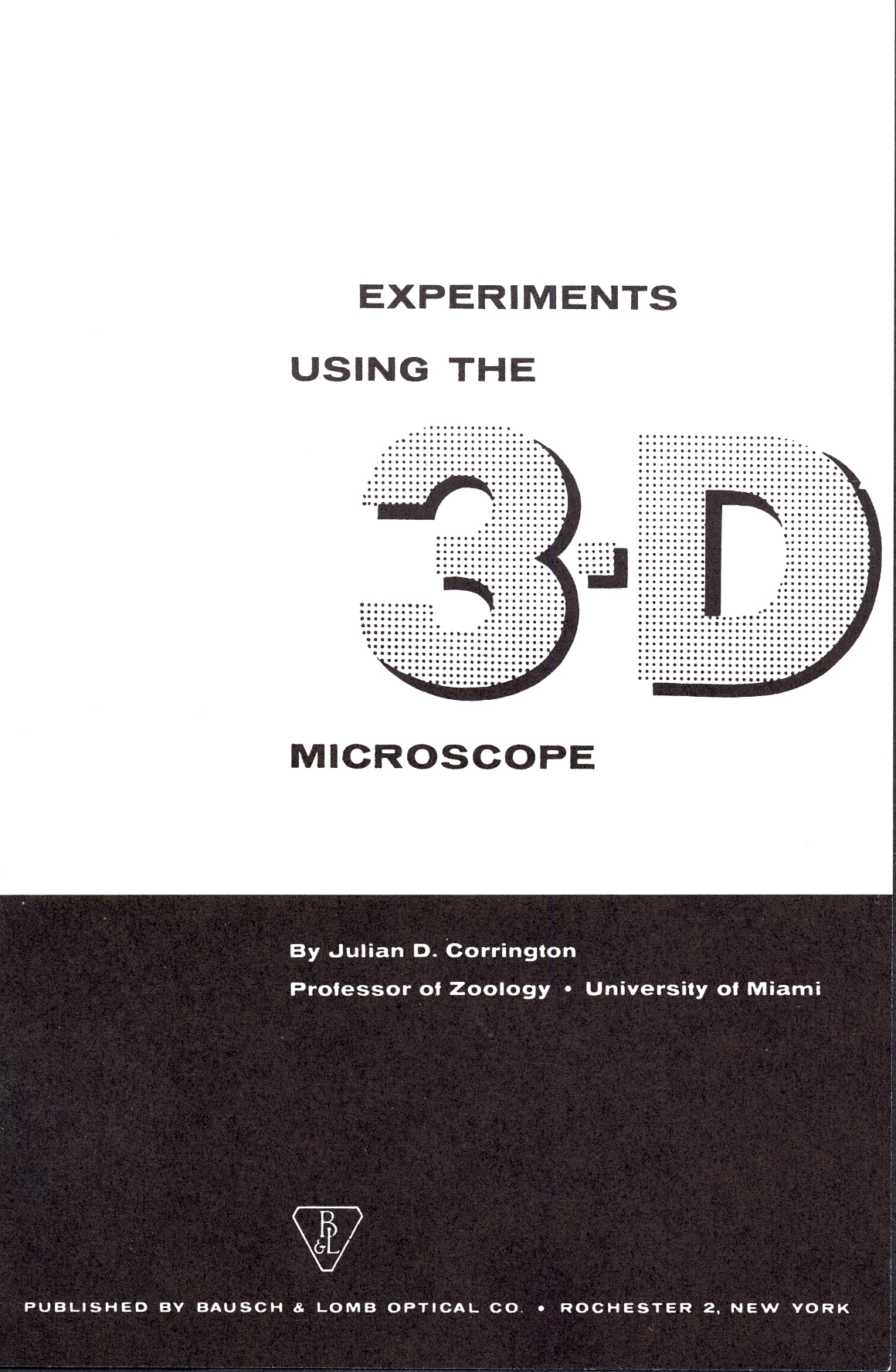 Julian D. Corrington and the Bausch & Lomb Microscopes for