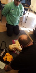 First aid course practice