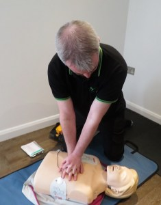 Chest compressions with defib pads