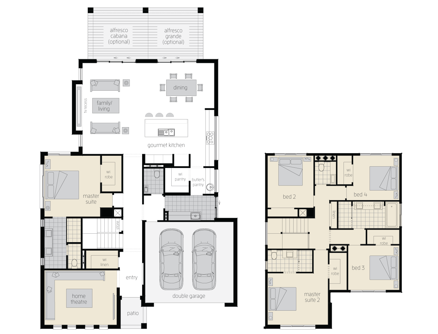 hight resolution of floor plan avondale two storey home mcdonald jones
