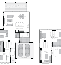 floor plan avondale34 two storey home mcdonald jones [ 1498 x 1145 Pixel ]