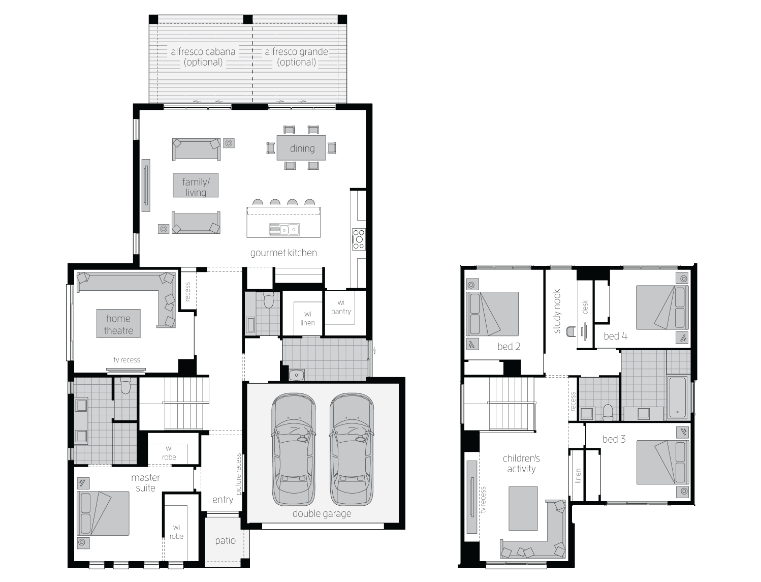 hight resolution of floor plan avondale34 two storey home mcdonald jones
