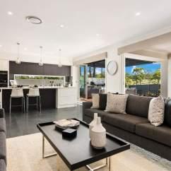 Kitchen Miami Red Clock Modern New House Design Mcdonald Jones Homes Living