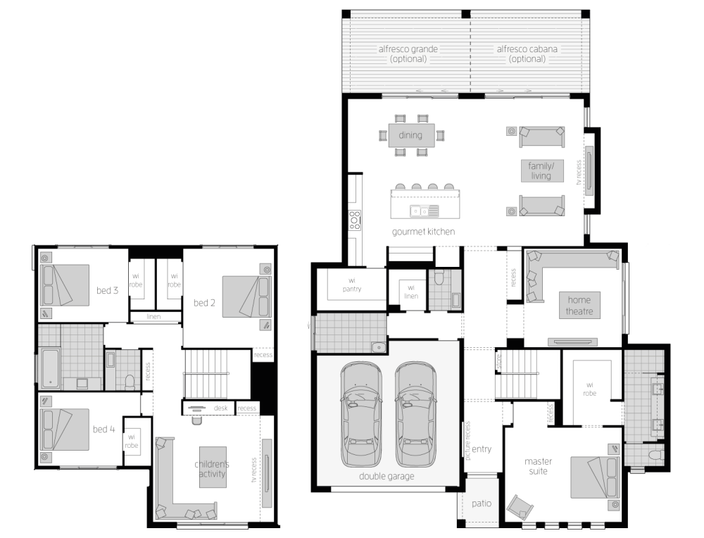 medium resolution of floor plan avondale 38 two storey home mcdonald jones