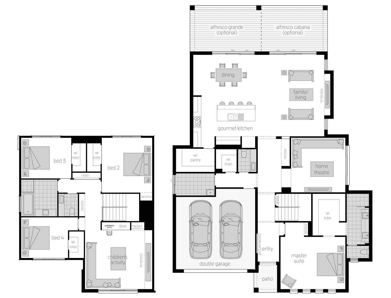 hight resolution of floor plan avondale 38 two storey home mcdonald jones