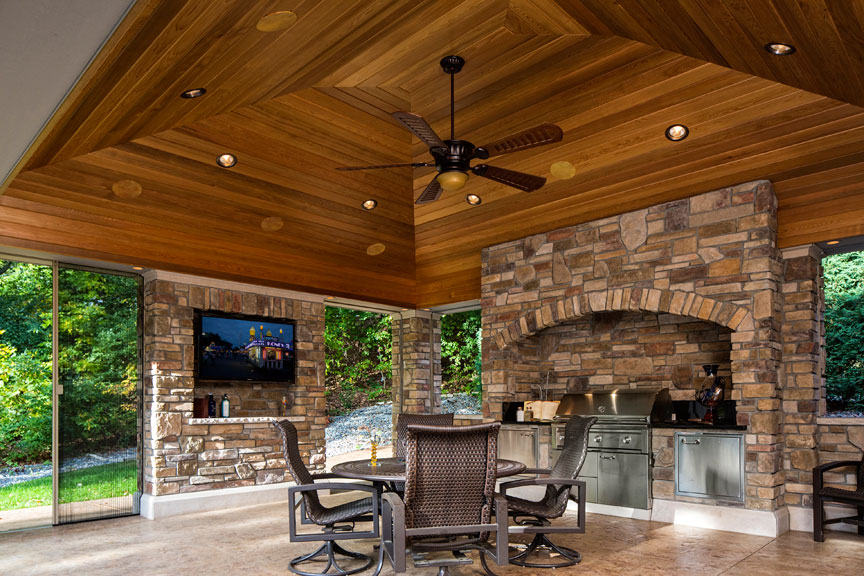 patio kitchen remodeling contract sample outdoor living room and screened porch