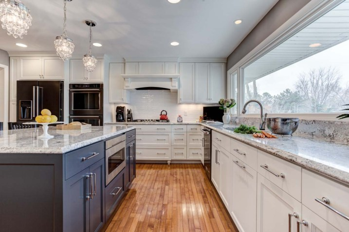 White Kitchen Remodel With A Lake View | McDonald Remodeling