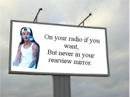 Bieber billboard