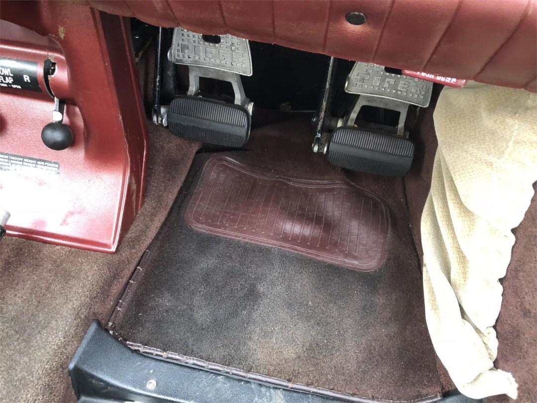 1979 PIPER SENECA II co-pilot carpet and rudder pedals
