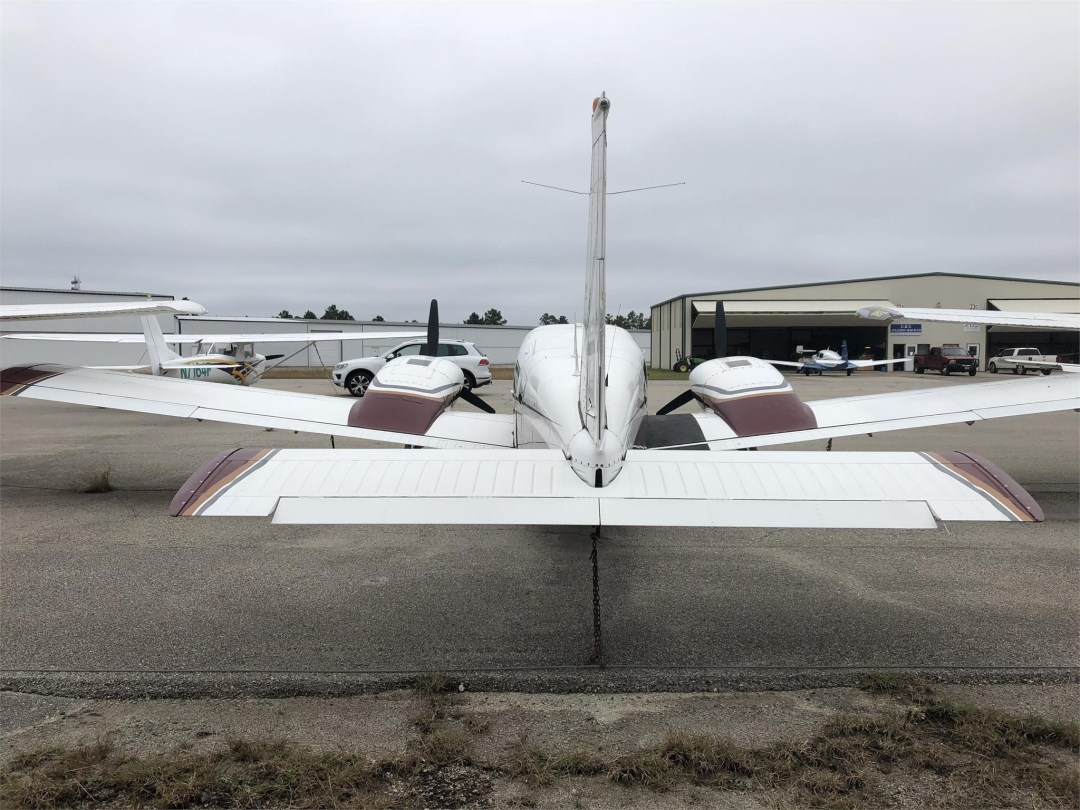 1979 PIPER SENECA II rear view of aircraft