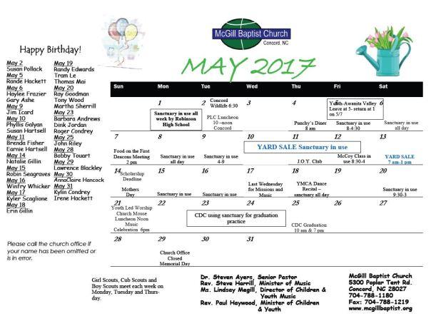 mcgill calendar