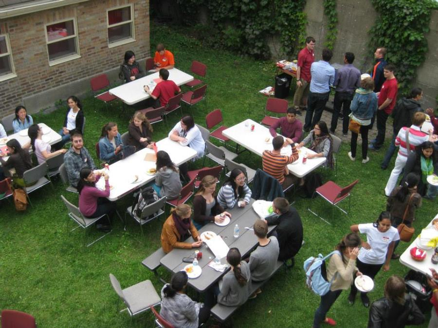 Newmanites at the beginning-of-year Welcome Back BBQ (photo credit unknown)