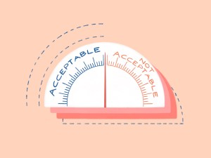acceptable v not acceptable scale