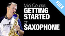 Free Getting Started with saxophone course