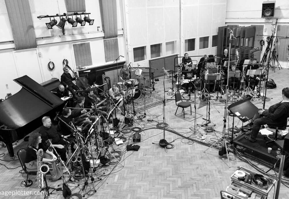 Dave O'Higgins recording at Abbey Road Studios