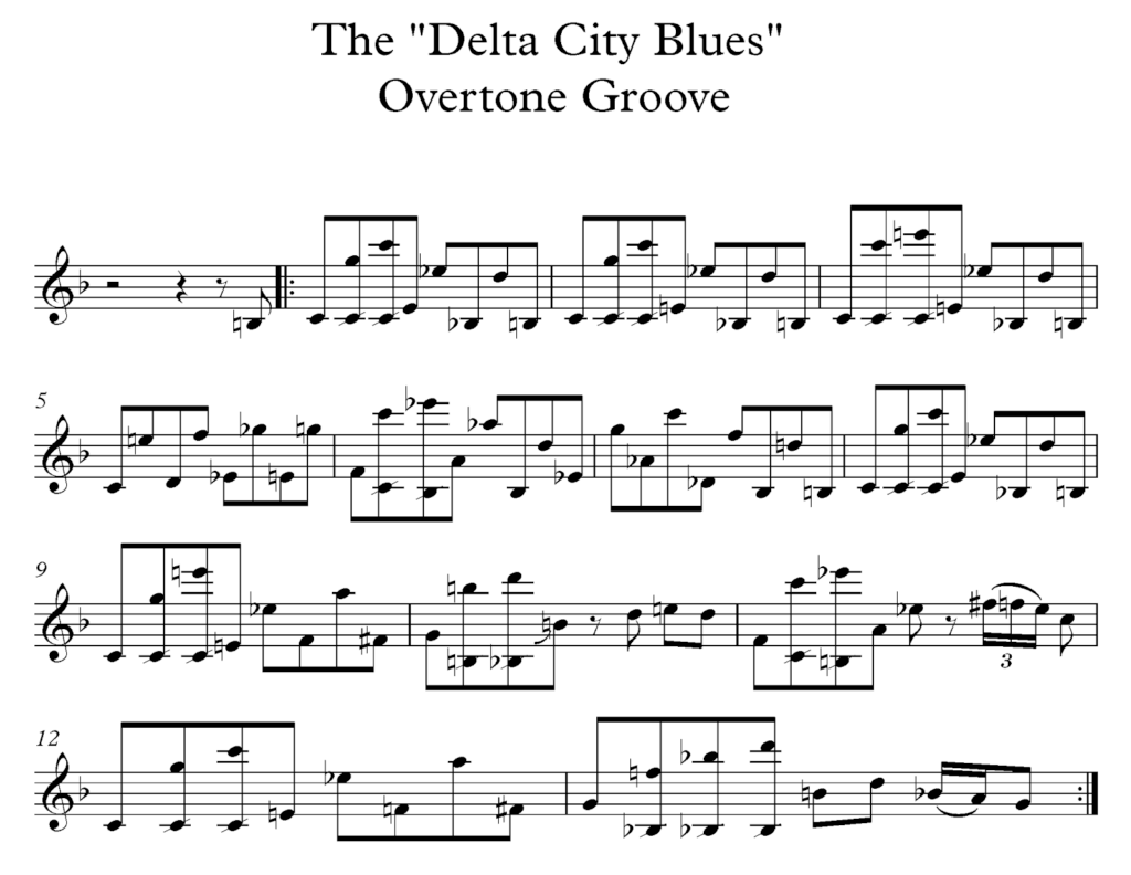 Delta City Blues saxophone groove