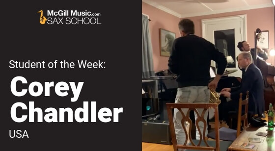 Corey Chandler – Student of the Week!