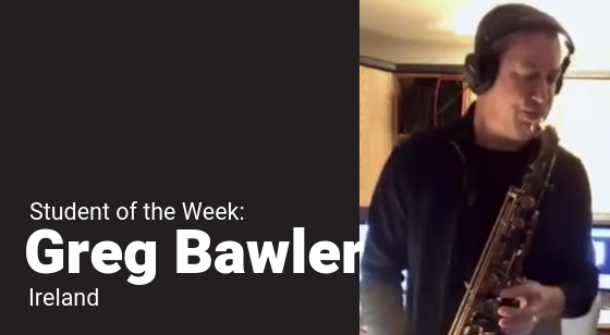 Greg Bawler – Student of the Week!