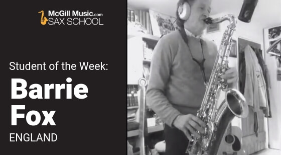 Barrie Fox – Student of the Week!