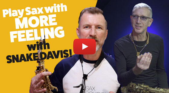 How to play sax with MORE FEELING