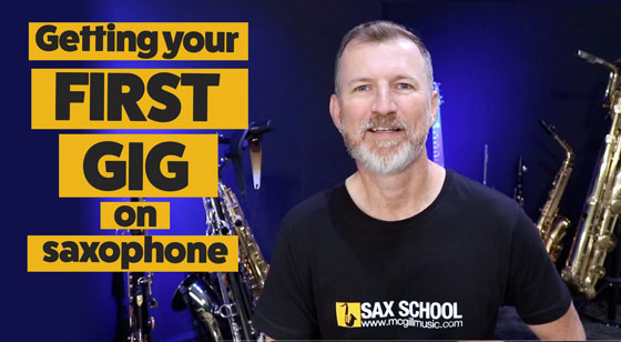 Getting your first gig on saxophone