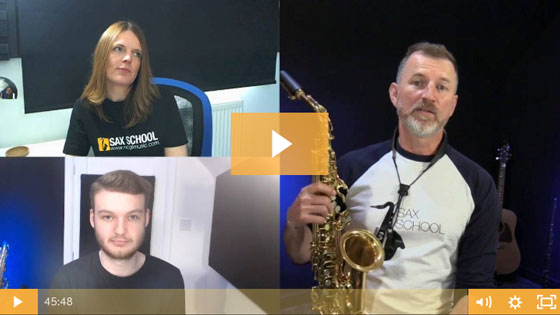 May Q&A Session for Sax School