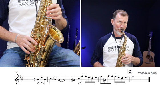 """Dire Straits """"Your Latest Trick"""" sax solo – easy key!"""