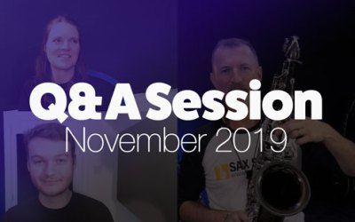 November Sax School Q&A Session!