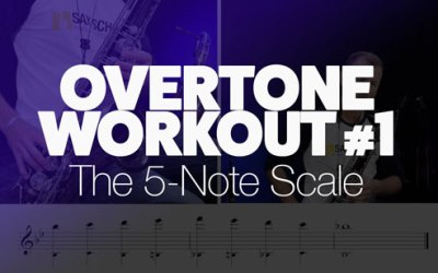 Saxophone Overtone Workout #1