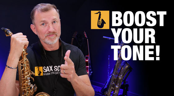 Saxophone lesson how to boost your tone with overtones