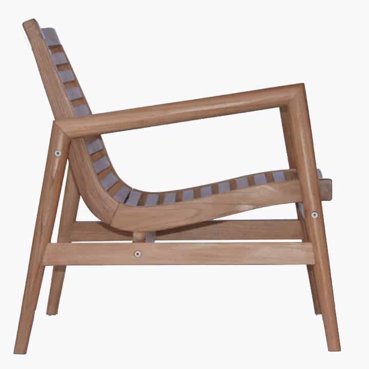 Outdoor Lounge Club Chair  Ira  Teak Patio Furniture