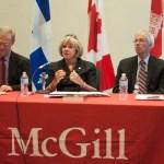 Panelists discussed proposed changes to the Senate. (Simon Poitrimolt / McGill Tribune)
