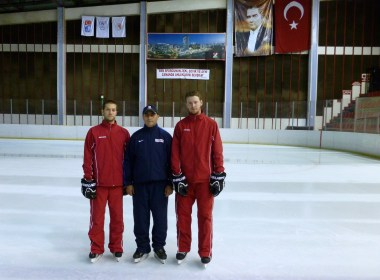 Left to Right: Matthew Robins, Kaan Budak (Head Coach Polis Akademisi, Ankara), Craig Klinkhoff