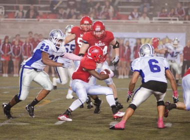 McGill was unstoppable on the ground, tallying 261 rushing yards. (Simon Poitrimolt / McGill Tribune)