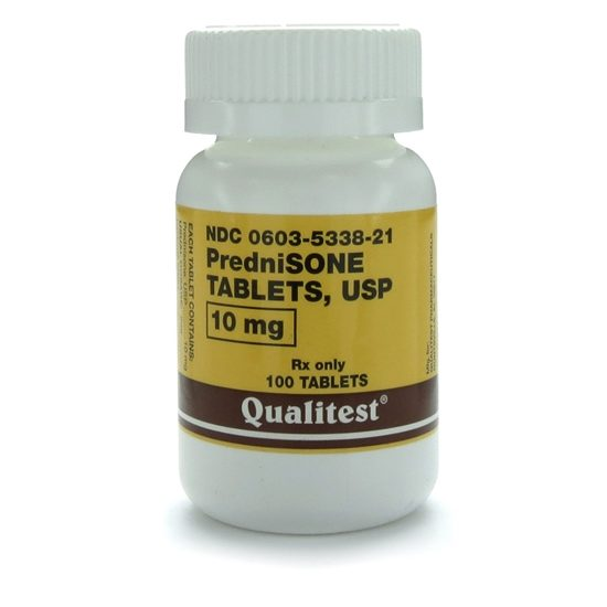 Prednisone 10mg 100 Tablets/Bottle | McGuff Medical Products