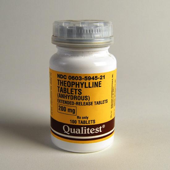 Theophylline ER 200mg 100 Capsules/Bottle | McGuff ...