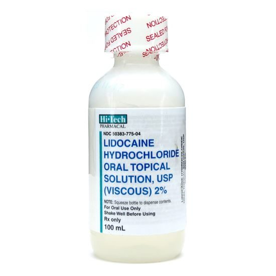 Lidocaine (Lidocaine Hydrochloride Oral Topical Solution ...