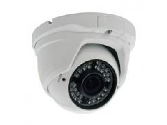 Domo fijo HDTVI 1MP a 720P Lente varifocal 2812 mm Iluminacin infrarroja 30 metros IP66 Cmaras HDTVI  Videovigilancia y alarmas