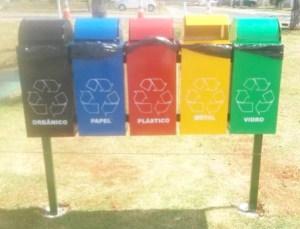 Modulo lixeiras públicas - reciclagem 1